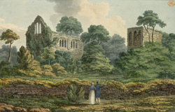 View of part of the ruins of Netley abbey near Southampton